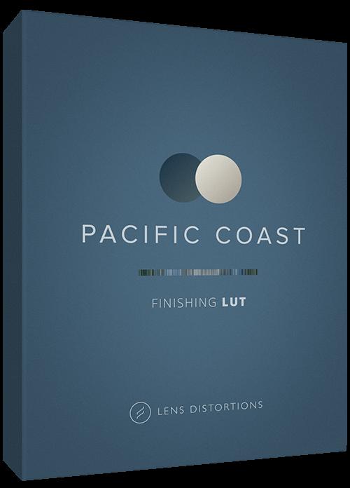 Cinematic LUT in Pacific Coast color palette